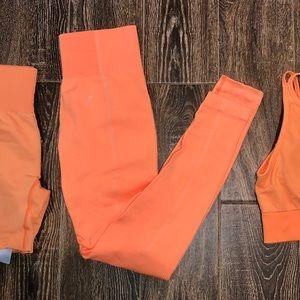Gymshark Ultra Seamless Leggings Orange Medium